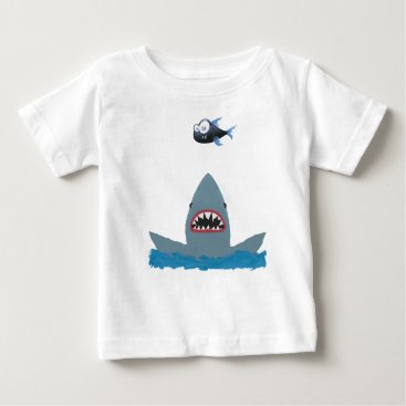 Beach Themed Jaws and Fish Baby T-Shirt