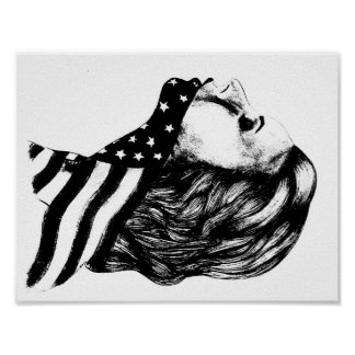 Jaws of Liberty- American Girl Poster