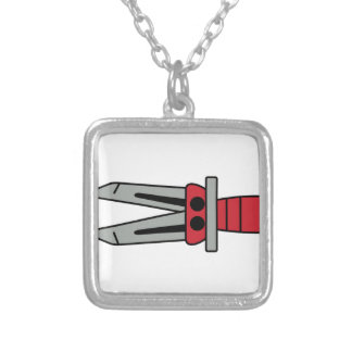 Jaws of Life Square Pendant Necklace