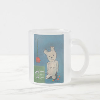 Jaws Or Flowers Frosted Glass Coffee Mug