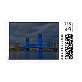 jax blue bridge HDR - Customized Postage
