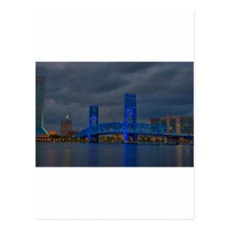 jax blue bridge HDR Postcard