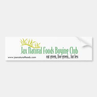 Jax Natural Foods Bumper Sticker 1