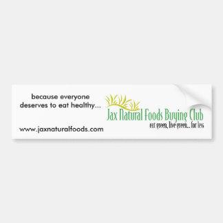 Jax Natural Foods Bumper Sticker 2