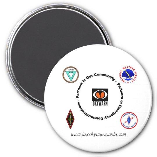 Jaxskywarn webpage magnet