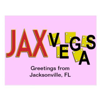 JaxVegas greetings Postcard
