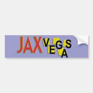 JaxVegas Proud Citizen or Visitor Car Bumper Sticker