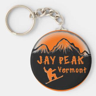 Jay Peak Vermont artistic skier Keychain