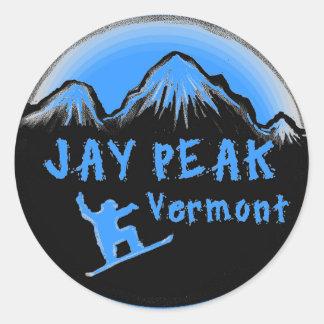 Jay Peak Vermont artistic skier Stickers