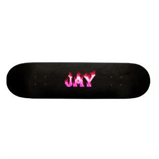 Jay pink fire Skatersollie skateboard.