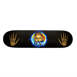 Jay skull blue fire Skatersollie skateboard.