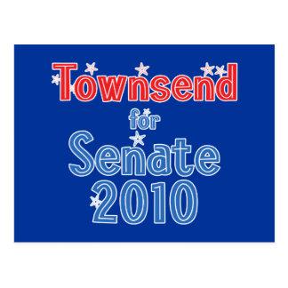 Jay Townsend for Senate 2010 Star Design Postcard