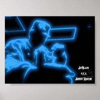 "JayBlaze ""Gangsta Blue"" Poster"