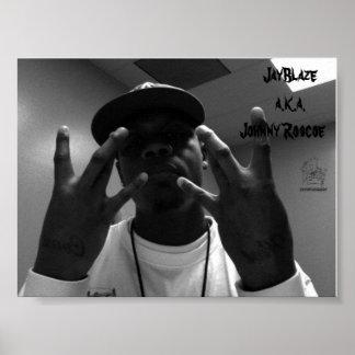 "JayBlaze ""Throw up ya dubs"" Poster"