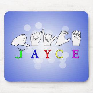 JAYCE  NAME SIGN ASL FINGERSPELLED MOUSE PAD