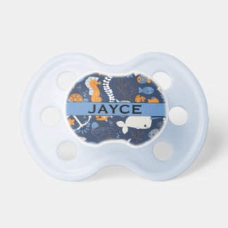"""""""Jayce"""" Personalized Name Ocean Pacifier"""