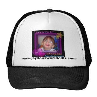jayden's world help raise awareness, www.j... trucker hat