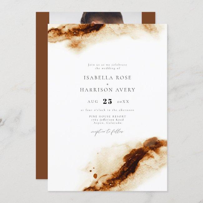 JAYLA | Boho Terracotta Burnt Orange Rust Wedding Invitation