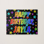 "[ Thumbnail: ""Jayla"" First Name, Fun ""Happy Birthday"" Jigsaw Puzzle ]"