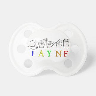 JAYNE FINGERSPELLED ASL NAME SIGN PACIFIER