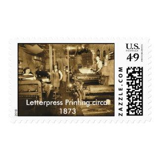 JayphotoSEPIA-CMYK, Letterpress Printing circa ... Stamp
