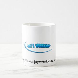 Jay's Workshop Classic White Coffee Mug