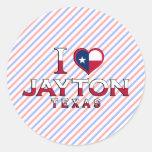 Jayton, Texas Round Sticker