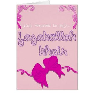 jazakallah khair bow card
