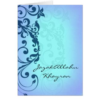JazakAllah khayran - Islamic Hadith thank you card