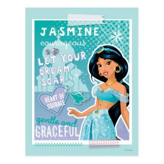 Jazmín - deje sus sueños elevarse tarjeta postal