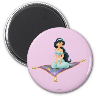 Jazmín en la alfombra mágica imán redondo 5 cm