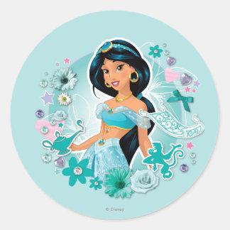 Jazmín - princesa Jasmine Pegatina Redonda
