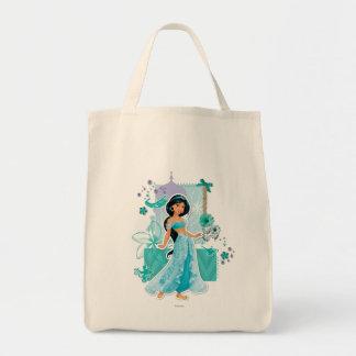Jazmín - valeroso bolsa tela para la compra