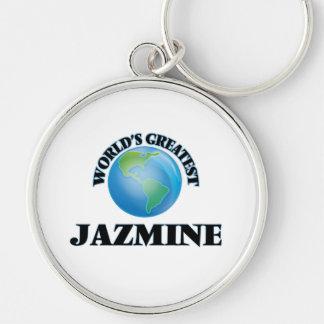 Jazmine más grande del mundo llaveros personalizados