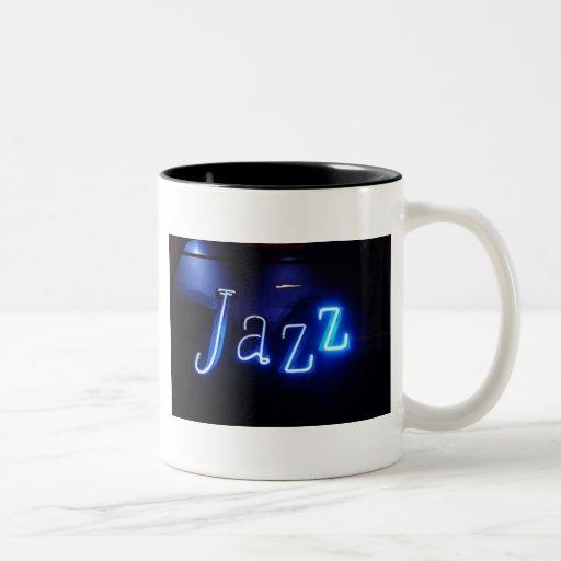 jazz1 taza de café de dos colores