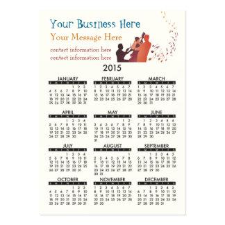 Jazz 2015 del calendario de la tarjeta de visita tarjetas de visita grandes