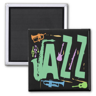 Jazz 2 Inch Square Magnet