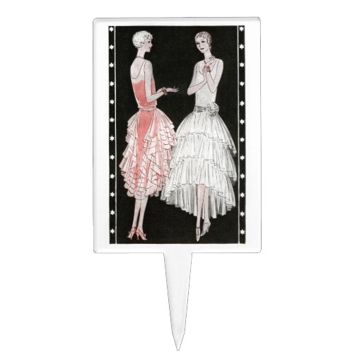 Jazz Age 1920s Fashion Cake Topper Zazzle