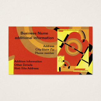 Jazz Age Art Deco Abstract Business Card