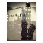 Jazz Age Art Deco custom wedding invitations Postcard