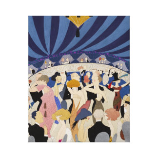 Jazz Age Art Deco Dancing couples dance hall art Stretched Canvas Prints