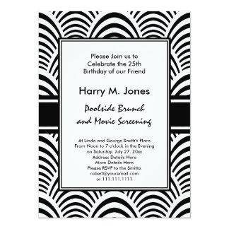 Jazz Age Art Deco Elegance Black and White Card