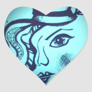 Jazz Age Glow Heart Sticker