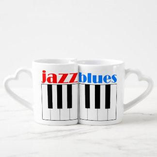 jazz and blues couples coffee mug