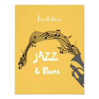 Jazz And Blues Themed Party Card