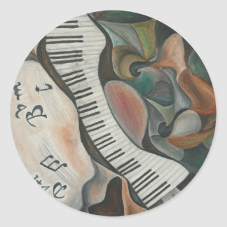 Jazz Arte Classic Round Sticker