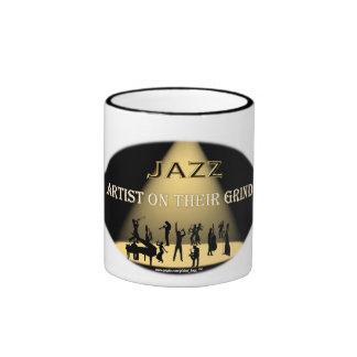 JAZZ Artist On Their Grind Blk Ringer 11 oz Mug
