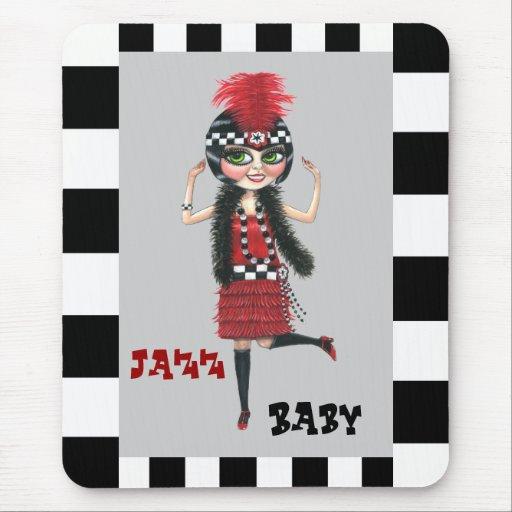 Jazz Baby Roaring '20s Flapper Mousepad