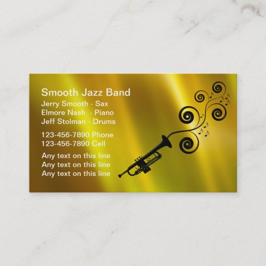 Jazz band business cards zazzle jazz band business cards colourmoves