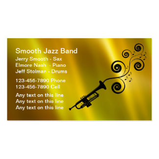 Jazz Band Business Cards & Templates